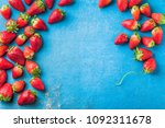 strawberries fresh colorful... | Shutterstock . vector #1092311678