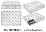 mattress bedding bed mockup set.... | Shutterstock .eps vector #1092312020