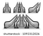 3d Escalator Elevator Stairs...