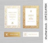luxury wedding invitation or...   Shutterstock .eps vector #1092314984