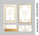 luxury wedding invitation or...   Shutterstock .eps vector #1092314990