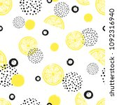 abstract seamless lemon pattern ... | Shutterstock .eps vector #1092316940