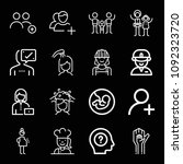 outline people icon set such as ...   Shutterstock .eps vector #1092323720