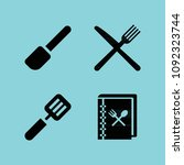 filled cooking icon set such as ... | Shutterstock .eps vector #1092323744