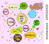 sweet  speech bubbles and labels | Shutterstock .eps vector #109232423