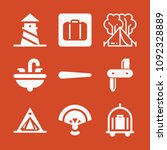 filled set of 9 holidays icons...   Shutterstock .eps vector #1092328889