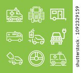 vehicle icon set   outline... | Shutterstock .eps vector #1092329159