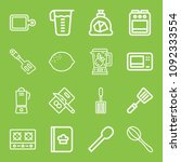 cooking icon set   outline... | Shutterstock .eps vector #1092333554