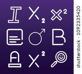 signs icon set   outline... | Shutterstock .eps vector #1092335420