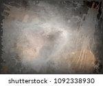 dark gray watercolor background ... | Shutterstock .eps vector #1092338930