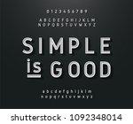 vintage sans serif alphabet.... | Shutterstock .eps vector #1092348014