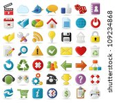 internet  website icons set | Shutterstock .eps vector #109234868