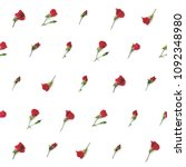 small red roses on white... | Shutterstock . vector #1092348980