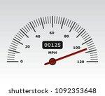 car speedometer with speed...   Shutterstock .eps vector #1092353648