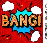 bang pop art expression  retro... | Shutterstock .eps vector #1092359498