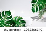 summer background with tropical ... | Shutterstock . vector #1092366140