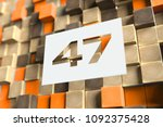 number 47 on the wood pattern... | Shutterstock . vector #1092375428