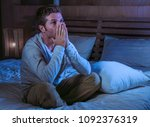 young sad and desperate man... | Shutterstock . vector #1092376319