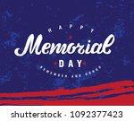 happy memorial day hand drawn...   Shutterstock .eps vector #1092377423