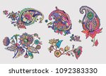 paisley. a pattern based on the ... | Shutterstock .eps vector #1092383330