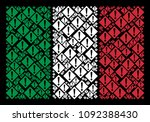 italy flag flat composition...