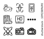 set of 9 digital outline icons... | Shutterstock .eps vector #1092389690