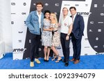 Small photo of New York, NY - May 16, 2018: John Reynolds, Alia Shawkat, Meredith Hagner, Kevin Pereira and Michael Showalter attend the 2018 Turner Upfront at One Penn Plaza