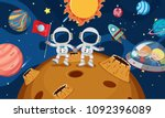 two astronaut explore the... | Shutterstock .eps vector #1092396089