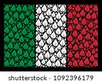 italy official flag flat mosaic ... | Shutterstock .eps vector #1092396179