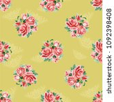 seamless floral pattern with... | Shutterstock .eps vector #1092398408