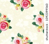 seamless floral pattern with... | Shutterstock .eps vector #1092399560