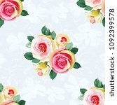 seamless floral pattern with... | Shutterstock .eps vector #1092399578