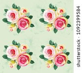 seamless floral pattern with... | Shutterstock .eps vector #1092399584