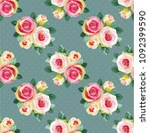 seamless floral pattern with... | Shutterstock .eps vector #1092399590