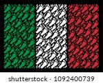 italy flag flat collage... | Shutterstock .eps vector #1092400739