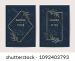 wedding invitation cards with... | Shutterstock .eps vector #1092403793