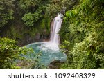 majestic waterfall in the... | Shutterstock . vector #1092408329
