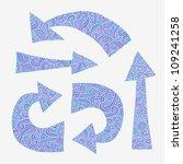 set of vector arrows. | Shutterstock .eps vector #109241258