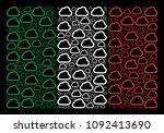 italy flag flat mosaic... | Shutterstock .eps vector #1092413690