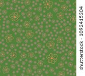 new color seamless pattern with ... | Shutterstock . vector #1092415304