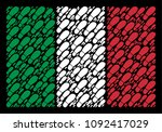 italy official flag flat... | Shutterstock .eps vector #1092417029