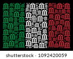 italy flag flat collage... | Shutterstock .eps vector #1092420059