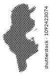 abstract tunisia map. vector... | Shutterstock .eps vector #1092423074