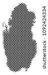 abstract qatar map. vector... | Shutterstock .eps vector #1092424334