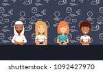 social media design | Shutterstock .eps vector #1092427970