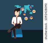 social media design | Shutterstock .eps vector #1092428090