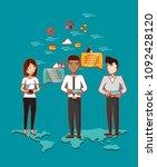 social media design | Shutterstock .eps vector #1092428120