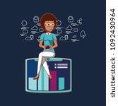 social media design | Shutterstock .eps vector #1092430964