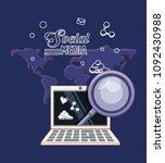 social media design | Shutterstock .eps vector #1092430988