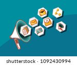social media design | Shutterstock .eps vector #1092430994